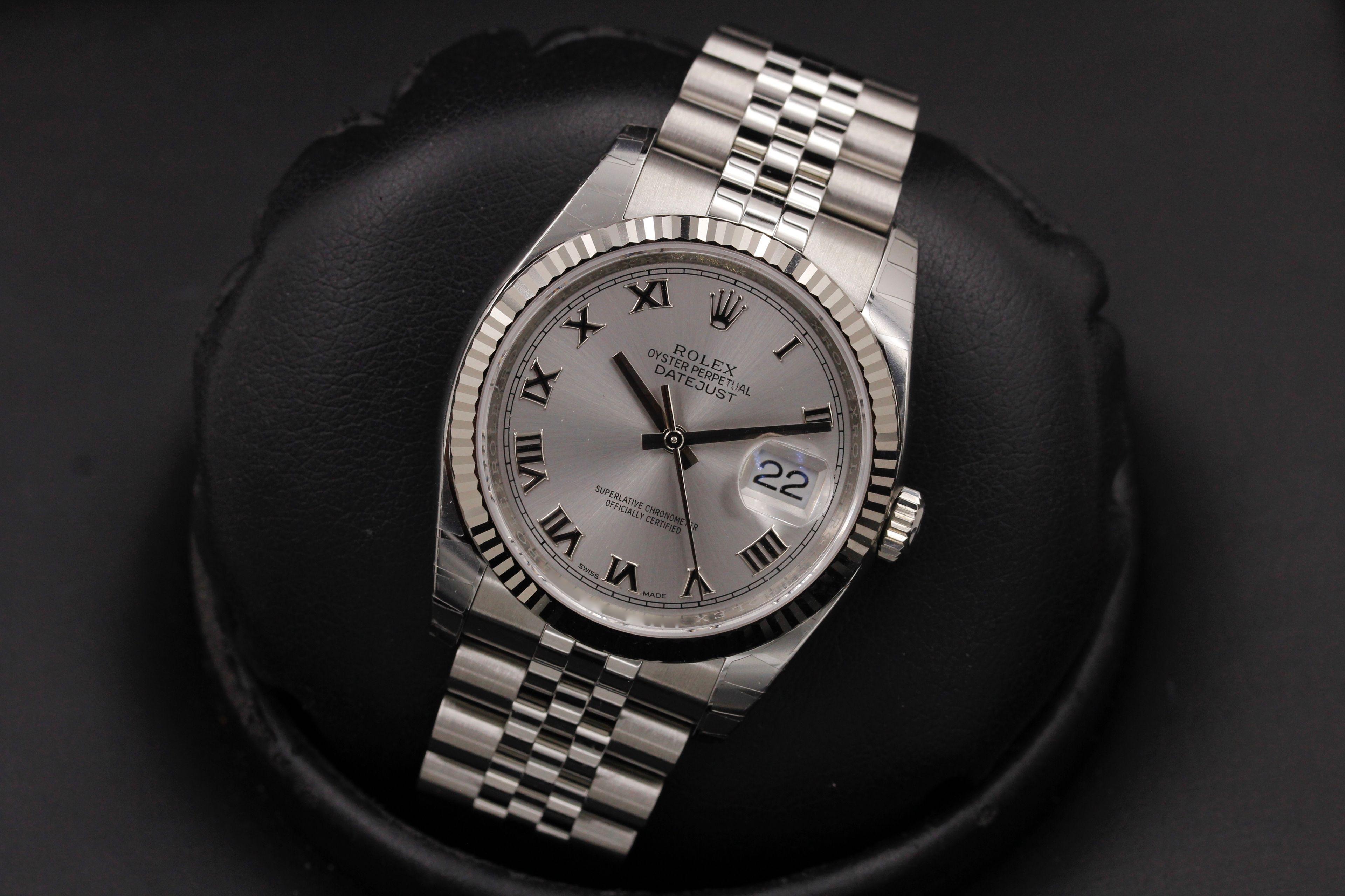 9a5d3af8943 Rolex Datejust - 116234 - Rhod Roman Dial - Jubilee - 2018 - NEW IN BOX ( Rolex)